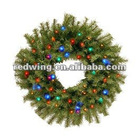 christmas flower ,garland and wreath