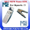 2012 New Mini-sim to nano-sim card cutter for iPhone 5/4s