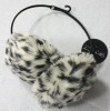 Faux fur leopard muffs