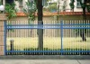 galvanized steel garden fence