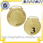 sports meeting medallion with ribbon/gold plating medallion/collectibles medallion