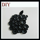 Handmade apple shape button craft