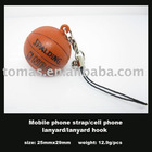 accessory, mobile phone accessory with basketball pendant, promotional gift