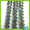 wholesale oblate glass bicone beads, jewelry loose beads