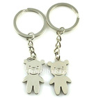fashion alloy plain little bear couple keyrings(K100045)
