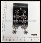 alloy diamond fashion earrings F43815