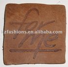 fashion real Leather Badge and patch for jeans