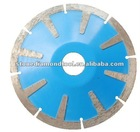 Hot well-known T shape diamond curved cutting saw blade