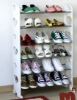White shoe cabinet,6 layer with metal and plastic meterial
