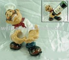 resin chef statue,resin wine holder