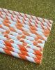 Assorted Orange Paper Straws