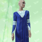 doubled-layer fabric crystal and embroidery islamic women abaya