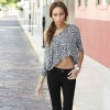 Leopard printed one-shoulder t shirt 2012