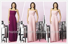 Strapless pink Bridesmaid Prom Holiday Formal Gown Long Dress Junior Plus Size bridesmaid dresses 2012