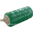 rechargeable button battery 6V80MAH