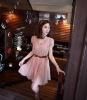 Lady elegant casual chiffon frock dresses