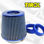 Round Tapered Universal Auto Cold Air Intake/ Air Filter(Blue)