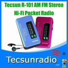 Retail-Wholesal Tecsun R-101 AM FM Stereo Hi-Fi Pocket Radio