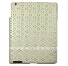 High-end fashion pu leather case for ipad 2 with diamond and plastic back
