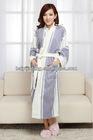 printing stripe style ladies long bathrobes