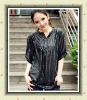 2012 ladies' fashion style small square sequin chiffon shirt