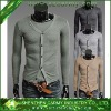 Mens Mercerized Cotton One Piece Slim Fit Long Sleeves Tee Shirts