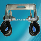 zinc plated with rubber linning pipe clamps