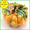 Pumpkin Shaped Home Decoration Metal Jewelry Case/Box(FB008497)