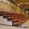 Borway sports tribune seating telescopic seating retractable seating rail telescopic