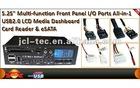 5.25 Multi-funtion USB2.0 Card reader Media dashboard front panel I/O Port with SATA ESATA
