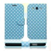 New Polka dot leather case For Samsung galaxy S3