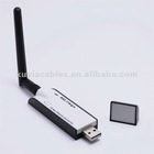 300M USB WiFi Adaptor Wireless Lan Card with Detachable Antenna for Desktop PC