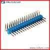 2.54mm pitch dual row right angle pin header socket