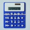 silicone portable soft calculator with 8 digits