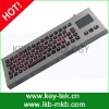 vandal proof IP65 stand alone desk top industrial military keyboard