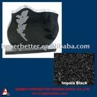 Impala black etching headstone