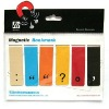 Magnetic book tags set of 6 Colour punctuation