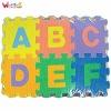 color puzzle mat