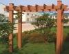 wood plastic composite garden pergola