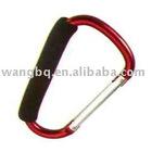 Aluminum snap hook with PVC sponage