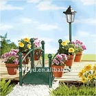 Solar Lantern Bridge with Planter Stand