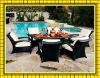 wicker rattan patio table and chairs SCTC-022