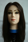 long lace front hand-tied middle part brazilian human hair wig