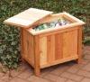 Wooden garbage box