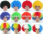 Eco-Friendly Synthetic Soccer Sports Fans Hairpiece
