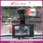 "Touch 5"" LCD screen GPS Car Black Box"