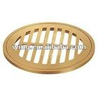 Round brass floor drain grate