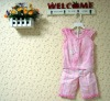 baby clothing sets:tie dye pink flower short sleeve tshirt with short pants