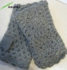 ladies knitted mohai gloves with lurex