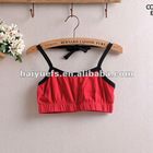 2012 plain cotton cute comfortable ladies half tank tops